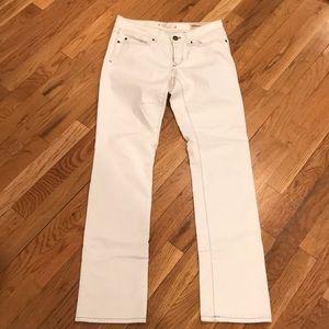 Gap White Low Rise Straight Leg Jeans